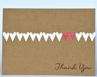 Wedding Thank You Cards With Hearts