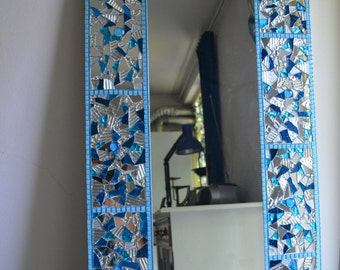 glass mosaic mirror 50x100cm