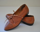 1980's Leather Oxford Flats