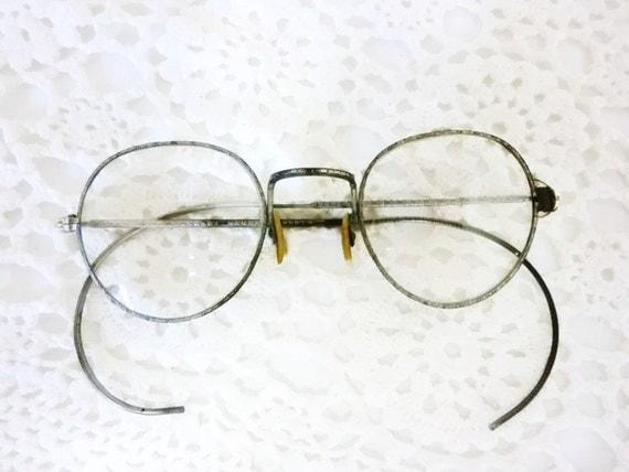 Vintage EyeWear Glasses Round Frame Circa 1910 Made in USA
