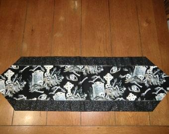 Table Runner - Halloween - R.I.P. - Skeltons - Grave Yard
