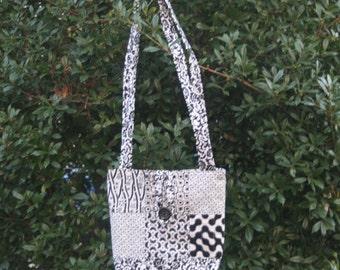 Black/White Quilted Shoulder Bag