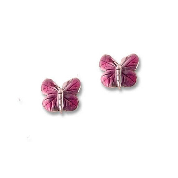 painted butterfly post earrings
