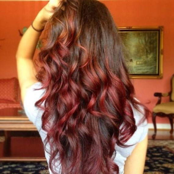 Brown To Red Ombre Hair Extensions 57