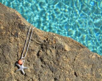 STARFISH NECKLACE- Starfish Necklaces, Beach Wedding Jewelry, Bridesmaid Starfish Necklace, Beach Jewelry, Bridesmaid Jewelry Set, Starfish