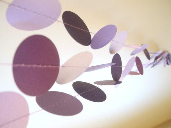 Lila kreise papier girlande lila von hoopsydaisies auf etsy