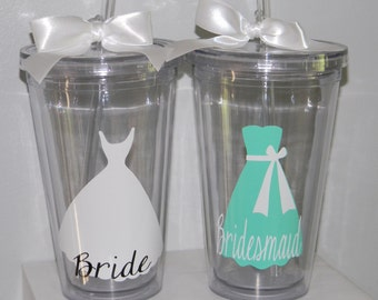 8 Bridesmaids Gifts - Eight Bridesmaids Gifts - Bridesmaids Gifts - Wedding Party Gifts - Bridal Party Gifts - Wedding Cups - Weddings