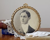 "SALE Vintage Photo ""Button"" // 1900s Tintype Photo"