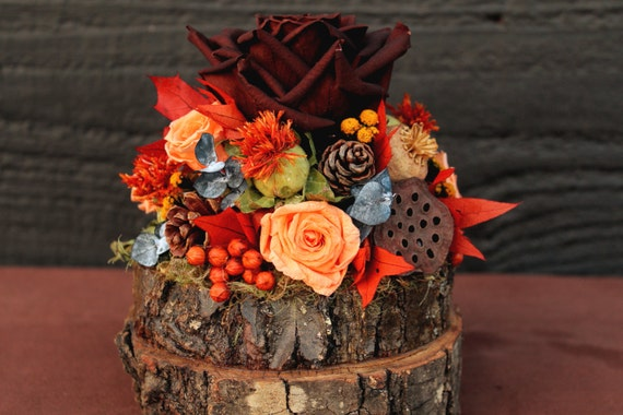 Rustic autumn wedding cake topper woodland cake topper fall for Autumn cake decoration