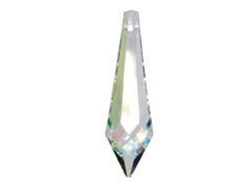 Swarovski Strass 8611 40x11mm Crystal AB Pendant Drop Prism (sku 11705 - 8611-40-CR-AB)