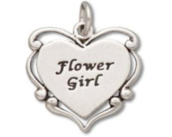 Sterling Silver Flower Girl Charm (sku 7528 - CHSS-FAMILY-N)