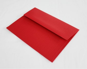 50 Red 4x6 Invitation Envelopes - set of 50 - size A6 4-3/4 x 6-1/2