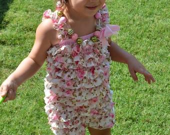 Vintage floral petti romper set/petti romper set/floral petti romper/baby girl petti romper/girl petti romper/photo prop