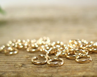 Jump Rings Gold Filled 3mm 22g 25 pcs R018 - Gold Filled Jump Rings, Open Jump Rings, Solder jump Rings, Split Jump Rings, Wholesale