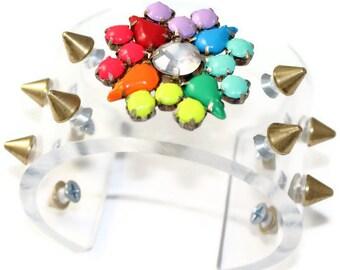 Rockstud Perspex Cuff Bracelet
