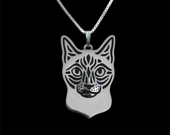 Siamese Cat jewelry - sterling silver pendant and necklace