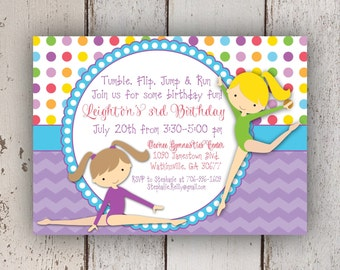 Gymnastics Party Invitation