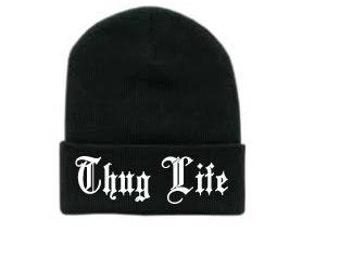 Thug Life Embroidery Beanie