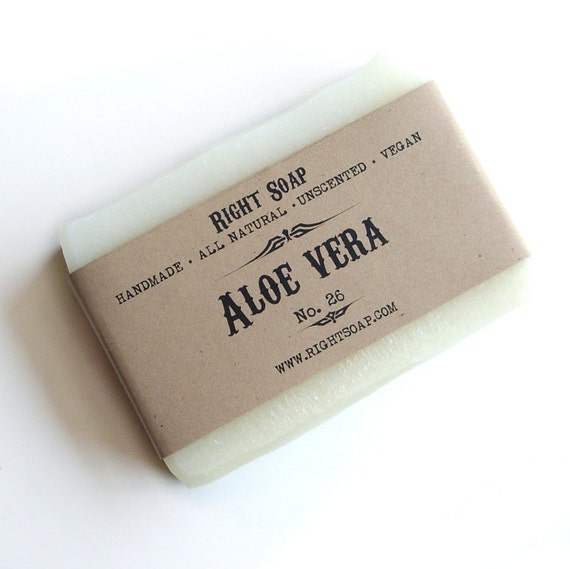 Aloe Vera Soap - Gift For Teens, Gift For Her, Sensitive Skin Soap, All Natural Soap,Soap, Handmade soap, Christmas gifts, Stocking stuffers