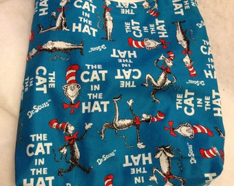 Doctor Seuss Cat in the Hat Print REVERSIBLE CrossBody Bag