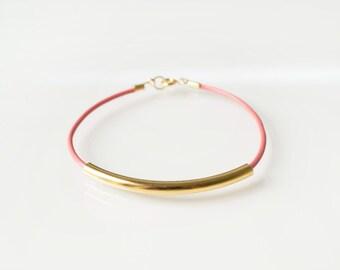 Pink bar bracelet