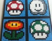 Hama beads, Mario Coasters