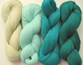 Linen Yarn Gray Yellow Green 400 gr (14 oz ), Cobweb / 1 ply, each hank contains approximately 3000 yds