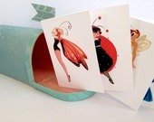 LadyBugs Note Cards: Set of Eight
