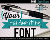 Custom Handwriting Font Order for Diane - 2 fonts