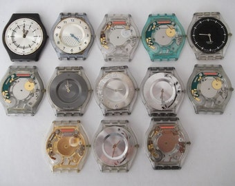 Set of 13 Vintage Digital  Watches  non working Watch parts  Supplies Finding  Steampunk  Assemblage
