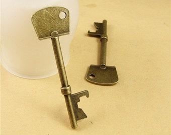 5 pcs 23x74mm Antique Bronze Huge Key Charm Pendant Jewelry Findings Drops A1213