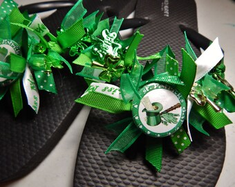 ST. PATRICKS DAY---flip flops for Ladies and Girls