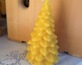 Beeswax Large Christmas Tree Candle
