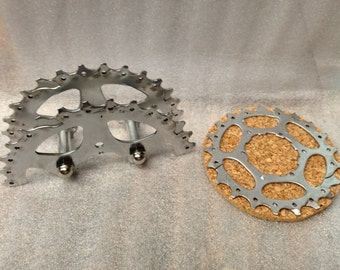 Bike Gear Coaster set with Bike Gear Holder