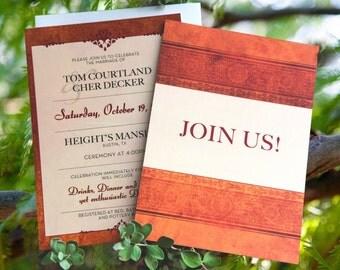 Rustic Fall Wedding Invitation Set