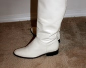 Vintage Winter White Calf Boot