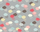 Wash Day Collection - Makower UK for Andover - Clouds in Gray - One Yard