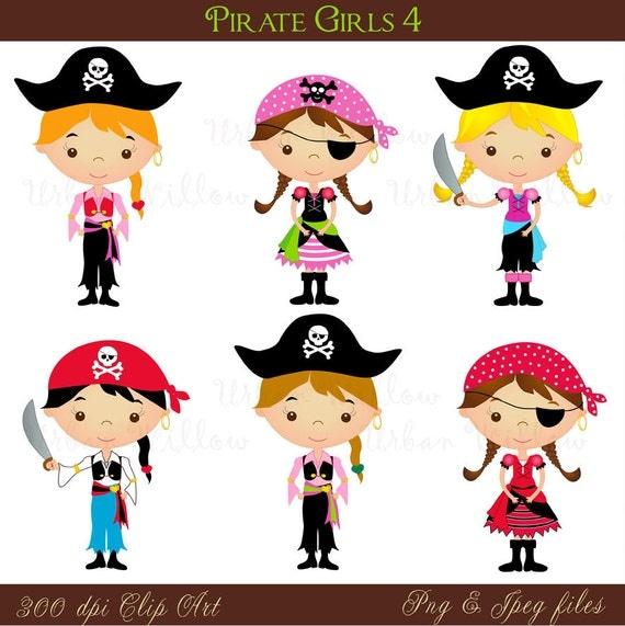Pirate Girl 4 Png & Jpeg clip art set. - photo#24