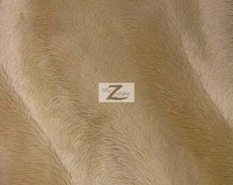 """Wavy Velboa Faux Fur Fabric - Camel - Sold By The Yard  - 58""""/60"""" Width"""