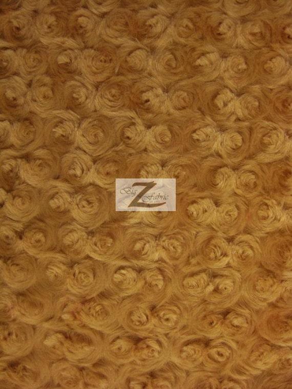 Rose Rosette Minky Cuddle Fabric Brown 58 60 Wide By