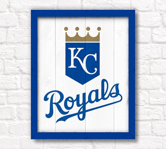 KANSAS CITY ROYALS rustic handmade sign - Kansas City Royals fan wall sign Boys room Man cave decor - Fathers Day gift for Dad