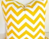 CHEVRON PILLOW YELLOW Chevron Throw Pillow Cover 18x18 Yellow Decorative Throw Pillows Yellow Chevron Pillow Contemporary Home and Living