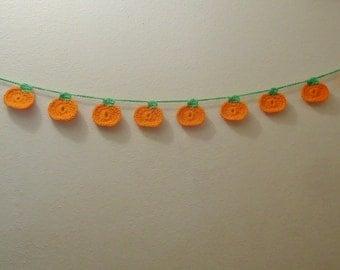 55 Inch, 10 Pumpkins Halloween or Fall/Thanksgiving Garland