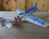 Metal diecast limited edition  Gulf Oil airplane F 51 Mustang