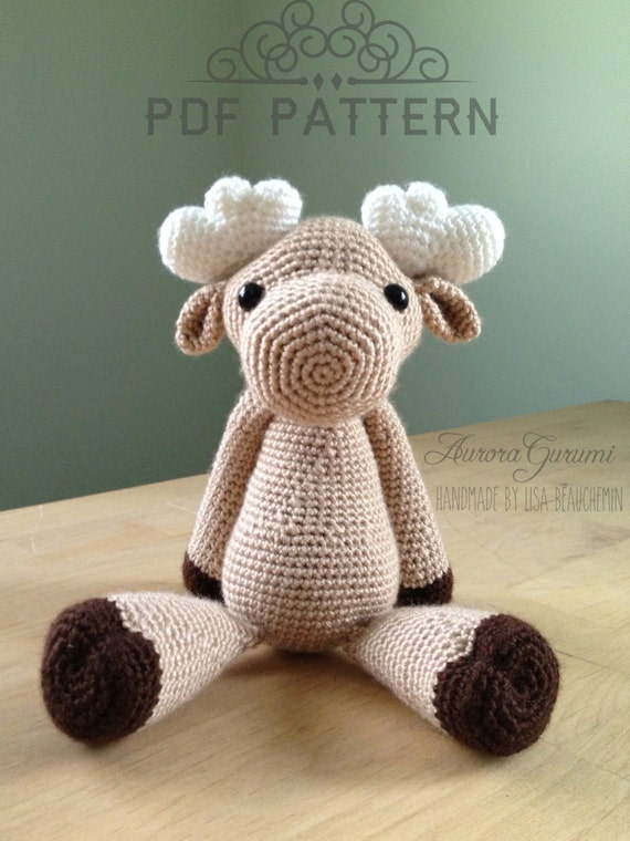 Amigurumi Moose Pattern Free : Milfred moose amigurumi pdf pattern