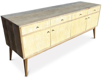 LEMON MERINGUE EDITION - Eco-Friendly / Handmade  /  Recycled Repurposed Sideboard / Entertainment Unit Made From Recycled Houses