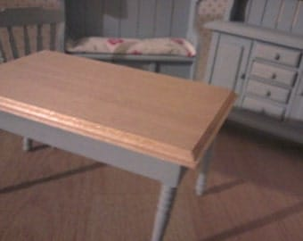 Doll house table kitchen furniture 1 12th scale miniature work table in Blue