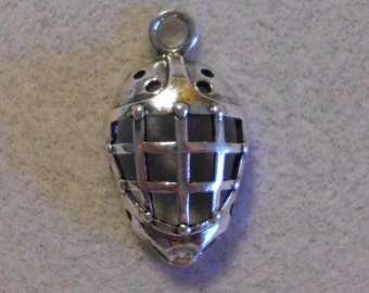 Silver Sports Soccer Goalie Mask Charms