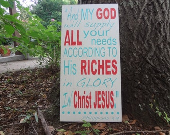 And My God...Hand Painted Sign