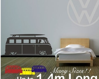 Camper van vinyl wall decal sticker up to 1.4m